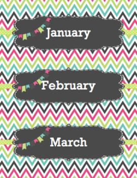 Calendar Labels - Colors - English
