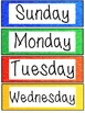 Days of the Week Labels - Sparkle