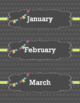 Calendar Labels - Gray - English
