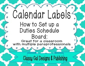 Calendar Labels: How to Create a Duties Schedule Board for