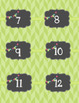 Calendar Labels - Lime - English