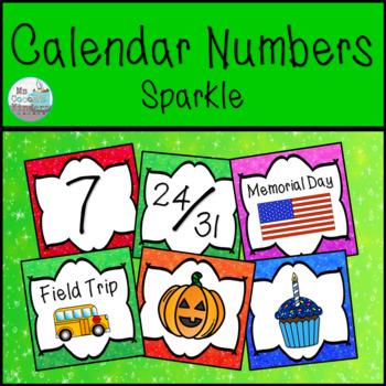 Calendar Numbers - Sparkle