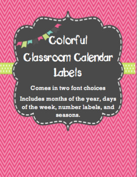 Calendar Labels - Pink - English
