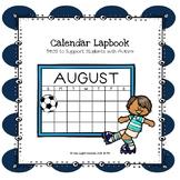 (Growing Bundle) Calendar Lapbook PECS to Support Students