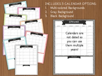 Teacher Binder Calendar & Lesson Planner Bundle {EDITABLE}