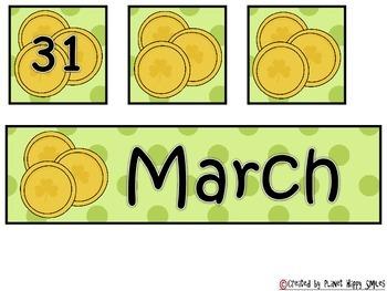 Calendar: March ~ Number Order 1-31