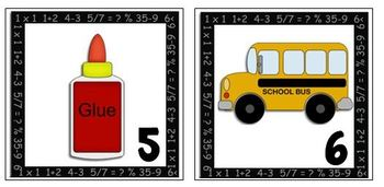 Calendar Markers-Back to School Theme