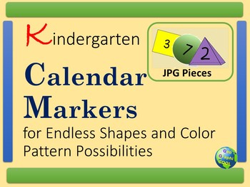 Kindergarten Calendar Markers Shapes and Colors
