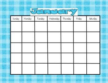 BINDER TASKS Calendar
