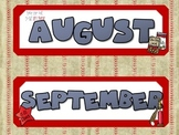 Calendar Material Set - Baseball Theme