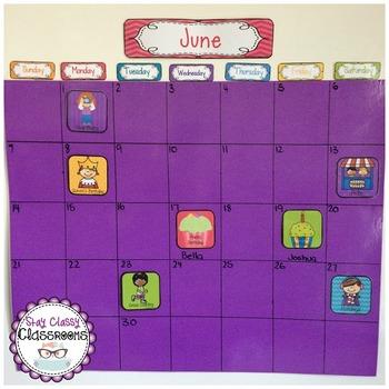 Calendar Materials - everything you need to create a perpetual calendar