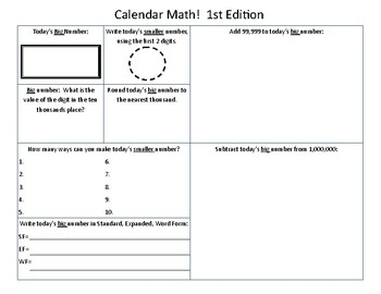 Calendar Math!  1st Edition