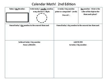 Calendar Math!  2nd Edition
