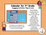 Calendar Math - 3rd Grade