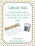 Calendar Math: A notebook system for calendar math, review