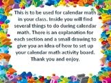 Calendar Math Activities