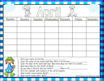 Calendar Math April