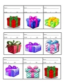 Calendar Math Birthday Presents and stamps for graphing