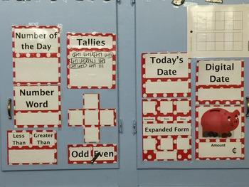 Calendar Math Bulletin Board
