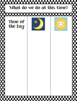 Calendar Math Bulletin Board Headings, Charts & Graphs - Black/White Polka Dots