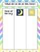 Calendar Math Bulletin Board Headings, Charts & Graphs - Pastel Chevrons