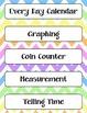 Calendar Math Bulletin Board Headings, Charts & Graphs - P