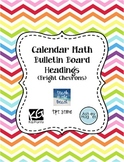 Calendar Math Bulletin Board Headings, Charts, & Graphs -