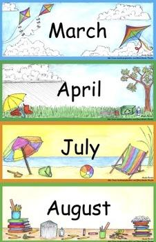 Calendar Math Bulletin Board Set