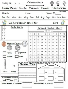 Calendar Math Bundle: Parts 1-4