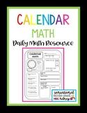 Calendar Math- Calendar Math Lower Grades