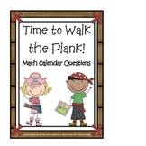 "Calendar Math Cards ""Time to Walk the Plank"""