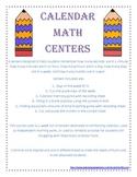 Calendar Math Centers and Activities