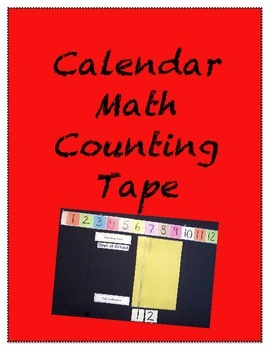 Calendar Math Counting Tape