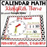 Calendar Math EDITABLE | Firefighter Decor