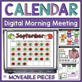 "Calendar Math Interactive / Smart Board Editable Powerpoint ""Owl"" Theme"