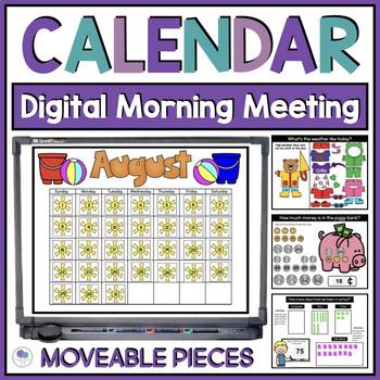 "Calendar Math Interactive / Smart Board Editable Powerpoint ""Owl"" Theme"