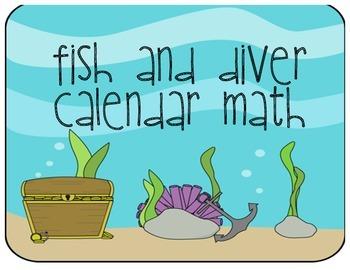 Calendar Math - Fish and Diver theme