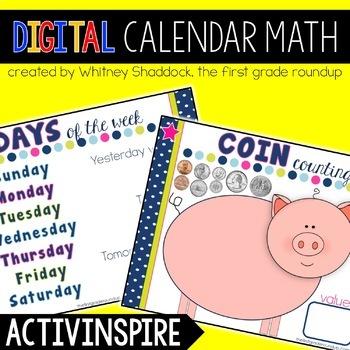 Calendar Math Flipchart for K-2, Year Long Calendar