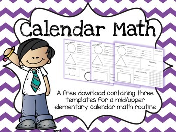 Calendar Math Freebie