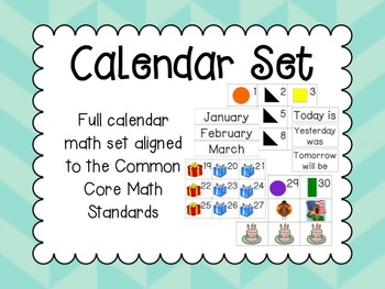 Core Content Aligned Calendar Math Full Set
