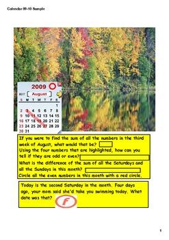 Calendar Math GR 3  Intereactive Smart Board