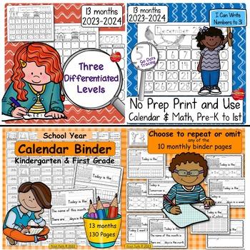 Calendar Math & Handwriting Bundle