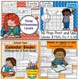 Calendar Math & Handwriting Bundle 2020 - 2021