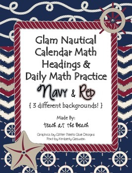 Calendar Math Headings, Charts, & Graphs AND Daily Practic