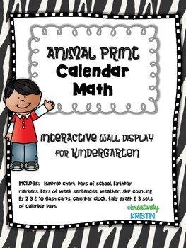 Calendar Math Interactive Wall Display for Kindergarten