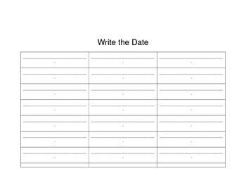 Calendar Math January Template for Folder