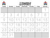 Calendar Math Journal