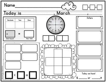 Calendar Math Journal (Everyday Counts Aligned)
