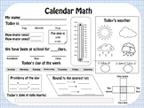 Calendar Math Journal, Weather worksheets and graphs