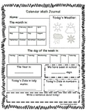 Calendar Math Journal by The 2 Teaching Divas